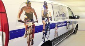 Fahrrad Denfeld, Beklebung